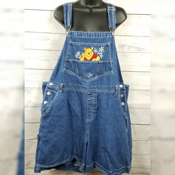 5004620b9a5 Winnie the Pooh shortalls bib overall shorts denim